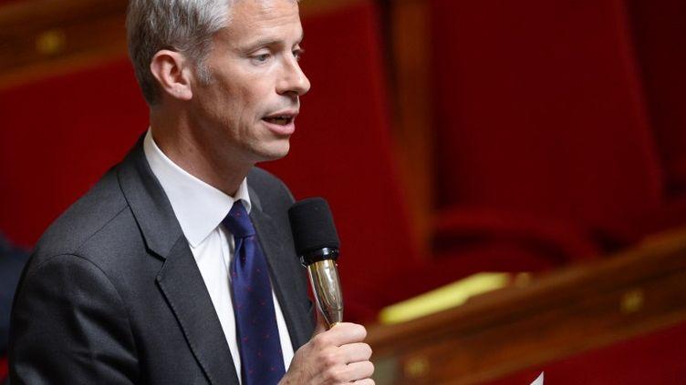 Franck Riester va bientôt proposer des adhésions gratuites sur le modèle de LREM. (BERTRAND GUAY / AFP)
