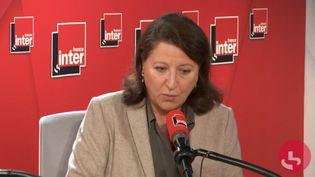 Agnès Buzyn, invitée de France Inter le 2 octobre 2019. (FRANCE INTER / CAPTURE D'ECRAN)