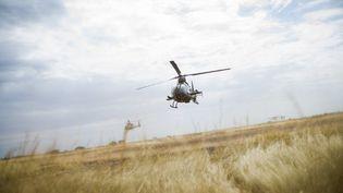 Un hélicoptère de type Gazelle, en intervention au Mali, en janvier 2013. (FRED DUFOUR / AFP)