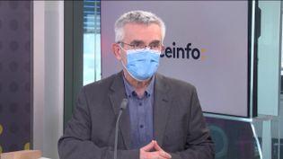 Yves Veyrier, secrétaire général de Force Ouvrière ( 1er Avril 2021). (FRANCEINFO / RADIO FRANCE)