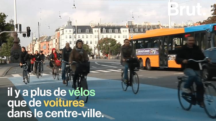 VIDEO. Copenhague, la ville où il fait bon être un cycliste (BRUT)