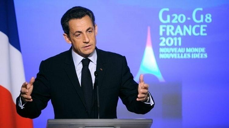 Nicolas Sarkozy a adressé ses voeux à la presse, lundi 24 janvier, à l'Elysée. (Eric Feferberg)