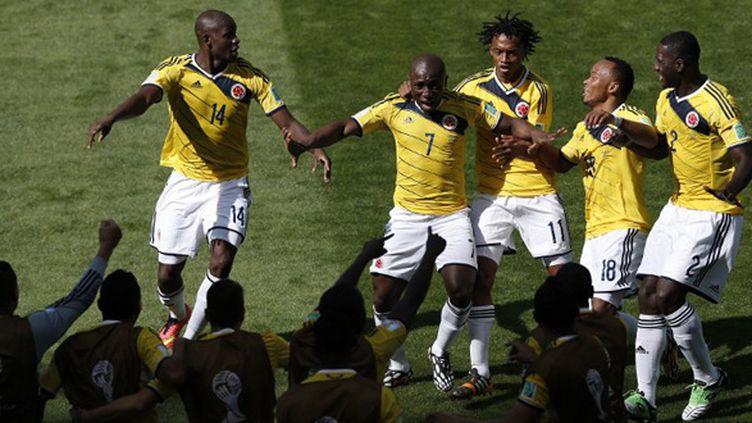 La joie des joueurs colombiens (ADRIAN DENNIS / AFP)