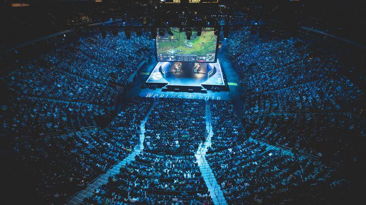 Le Madison Square Garden complètement rempli pour les demi-finales de League of Legends, le 22 octobre 2016. (Riot Games, Inc.)