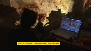 L'atelier Arc&Os travaille à la réplique de la grotte Cosquer (France 3 Aquitaine)