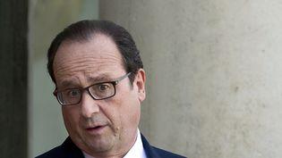 Le président de la République, François Hollande, le 31 octobre 2014, à l'Elysée. (ALAIN JOCARD / AFP)