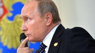 Vladimir Poutine, président de Russie en visite en Inde le 16 octobre 2016. (ALEXEI DRUZHININ / SPUTNIK)
