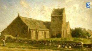 """""""L'église de Gréville"""", un condensé de l'art de Millet au Musée d'art Thomas-Henry  (Culturebox)"""