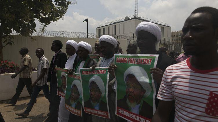 Les cadres de l'IMN réclament la libération de leur leader Ibrahim Zakzaky, le 11 juillet 2018 à Abuja. (NEXT24ONLINE / NURPHOTO)