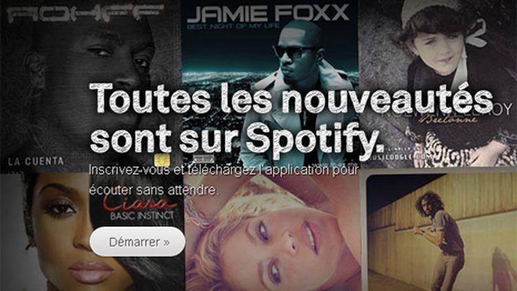 Capture d'écran du site web de Spotify (DR)