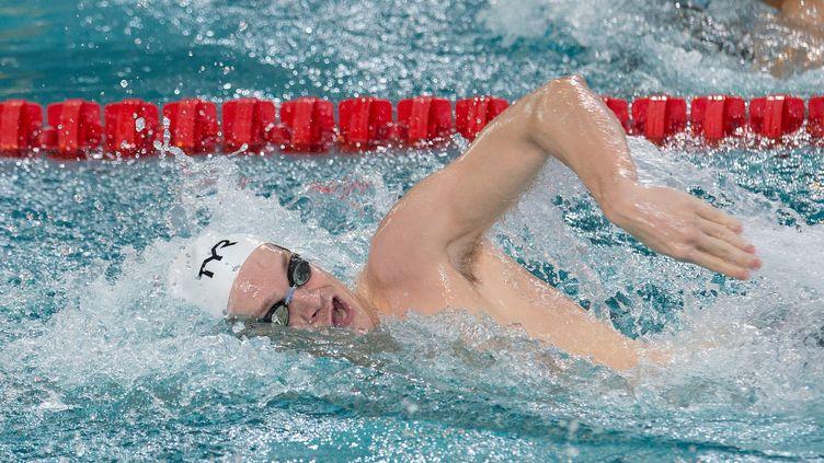 Le jeune Yannick Agnel a été sacré champion d'Europe du 400 m nage libre, le 22 novembre 2012 à Chartres. (NIVIERE / SIPA)