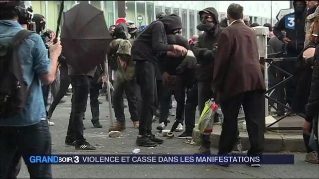 Loi travail : nouvelles flambées des violences en marge des manifestations