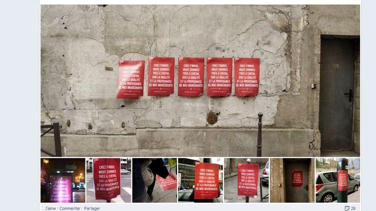 La fausse publicité de Findus aurait été créée par l'agence de publicité Rosbeef. Capture d'écran de la page Facebook de l'agence. (ROSBEEF / FRANCETV INFO)