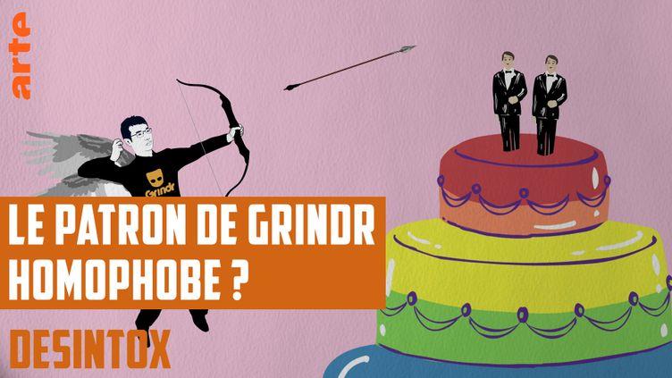 Désintox. Non, le patron de Grindr n'est pas anti-mariage pour tous (ARTE/LIBÉRATION/2P2L)