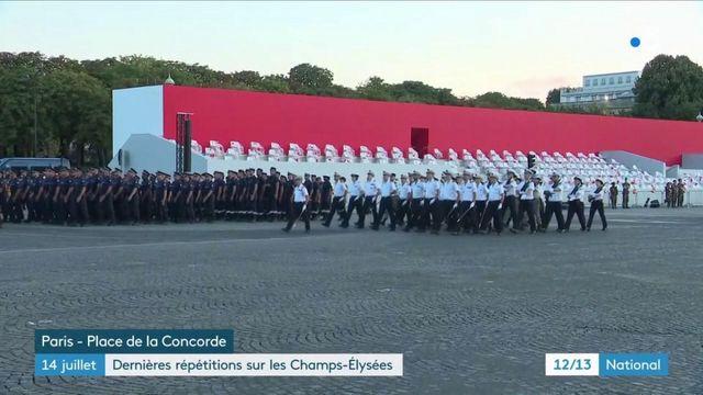 14 juillet : dernières répétitions sur les Champs-Elysées