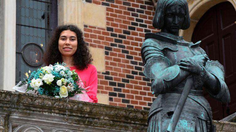 Mathilde Edey Gamassou, 17 ans, incarnera la Jeanne d'Arc d'Orléans le 8 mai 2018.  (MAXPPP)