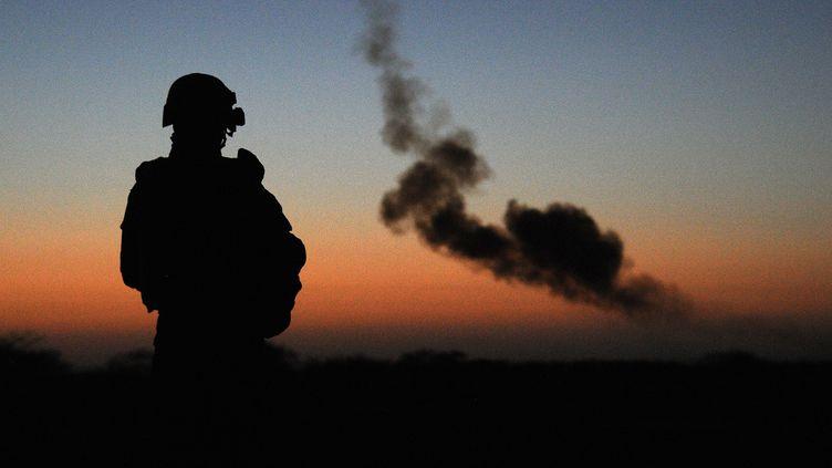 Un soldat français en exercice dans le nord du Mali, près de Gao, le 14 février 2013. (PASCAL GUYOT / AFP)