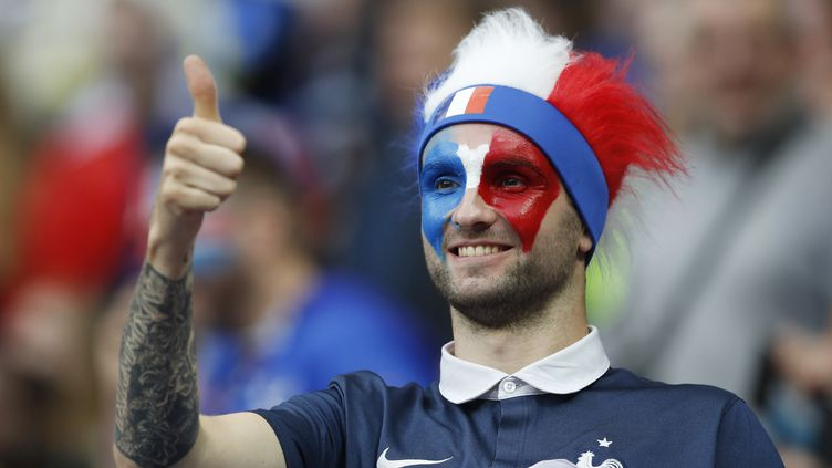 Un supporter de l'équipe de France, le 3 juillet 2016 au Stade de France. (REUTERS)