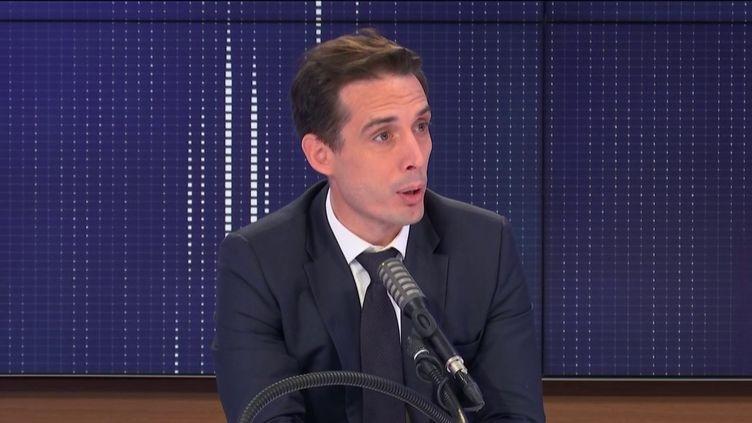 """Jean-Baptiste Djebbari, leministre délégué aux Transports était l'invité du """"8h30franceinfo"""", vendredi 6novembre 2020. (FRANCEINFO / RADIOFRANCE)"""