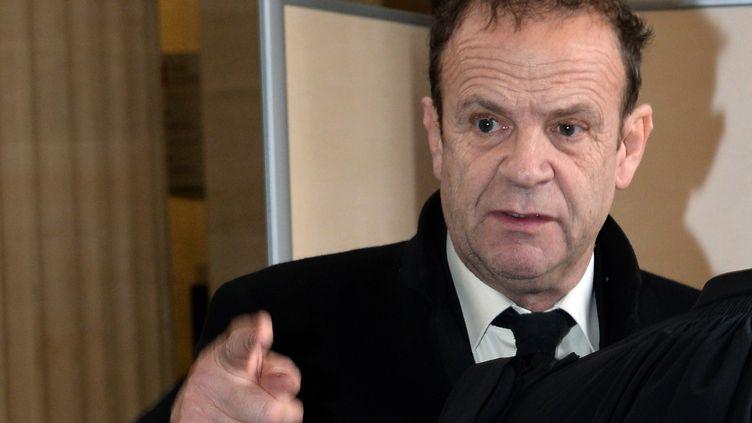 Le photographe François-Marie Banier lors du procès Bettencourt, jeudi 20 février 2015 à Bordeaux (Gironde). (MEHDI FEDOUACH / AFP)
