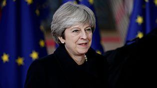 Theresa May au sommet de l'Union européenne à Bruxelles, le 14 décembre 2017. (ALEXANDROS MICHAILIDIS / SOOC / AFP)