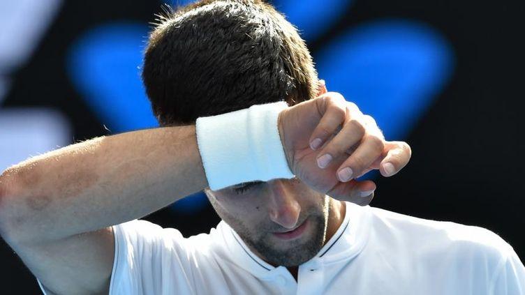 Le joueur serbe Novak Djokovic, le 19 janvier 2017. (PAUL CROCK / AFP)