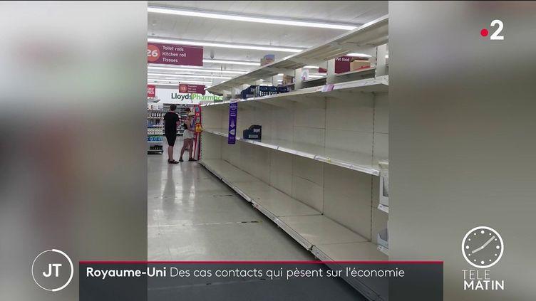 Des magasins vides au Royaume-Uni (France 2)