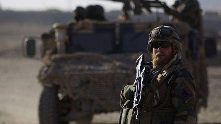 Un détachement de la Force française en Afghanistan à proximité de Tagab dans la province de Kapisa le 26 janvier 2011 (AFP PHOTO / Joel SAGET)