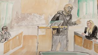 Christophe Raumel, le 4 septembre 2020, dans la salle d'audience du procès des attentats de janvier 2015. (ELISABETH DE POURQUERY / FRANCEINFO)