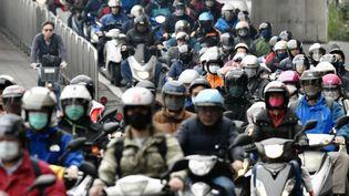 A Taipei, la capitale taiwanaise, le 18 mars 2020 (SAM YEH / AFP)