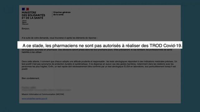 Vrai ou Fake : peut-on faire un test sérologique en pharmacie ?