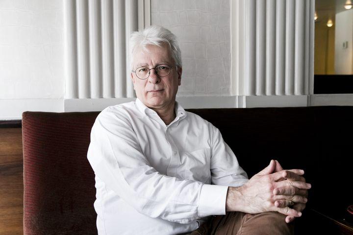 """Le philosophe Dominique Bourg lors de la présentation de sa liste """"Urgence Ecologique"""", le 18 mars 2019, à Paris. (MAXPPP)"""