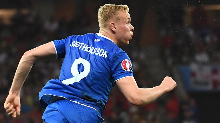 L'attaquant islandais du FC Nantes Kolbeinn Sigthorsson (ANNE-CHRISTINE POUJOULAT / AFP)