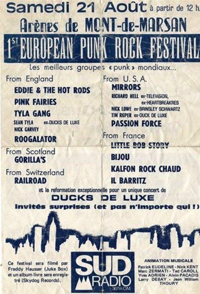 L'affiche du premier festival, en août 1976
