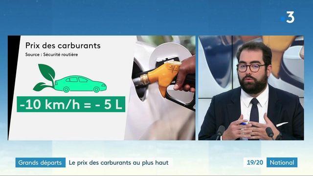 Grands départs : le prix des carburants plus haut par rapport à 2020