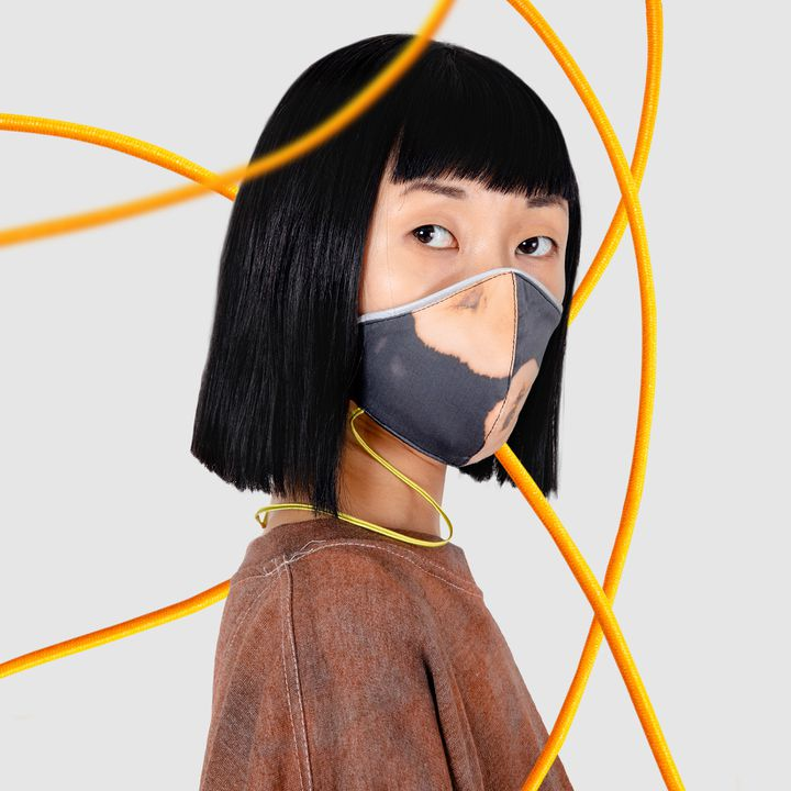 Masque réalisé en collaboration entre la créatrice Andrea Crews et le studioLeslie David (DR)