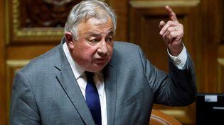 Gérard Larcher au Sénat à Paris, le 1 octobre 2020. (THOMAS COEX / AFP)