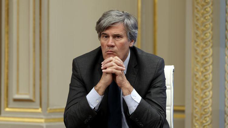 Stéphane Le Foll, ministre de l'Agriculture, le 8 avril 2015 à l'Elysée. (PHILIPPE WOJAZER / REUTERS)