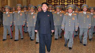Le dirigeant nord-coréen Kim Jong-un, à Pyongyang, le 10 octobre 2013. (KNS / KCNA / AFP)