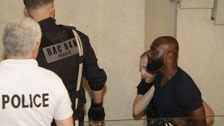 Le rappeur Kaaris au tribunal de Créteil, le 3 août 2018. (GEOFFROY VAN DER HASSELT / AFP)