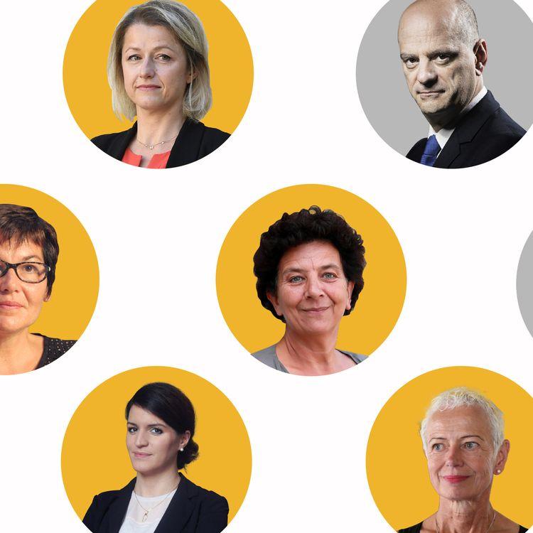 La composition du nouveau gouvernement de Jean Castex. (BAPTISTE BOYER - JESSICA KOMGUEN - PIERRE-ALBERT JOSSERAND / FRANCEINFO)