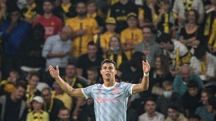 Cristiano Ronaldo a marqué son 135e but en Ligue des champions contre les Young Boys de Berne le 14 septembre 2021. (SEBASTIEN BOZON / AFP)