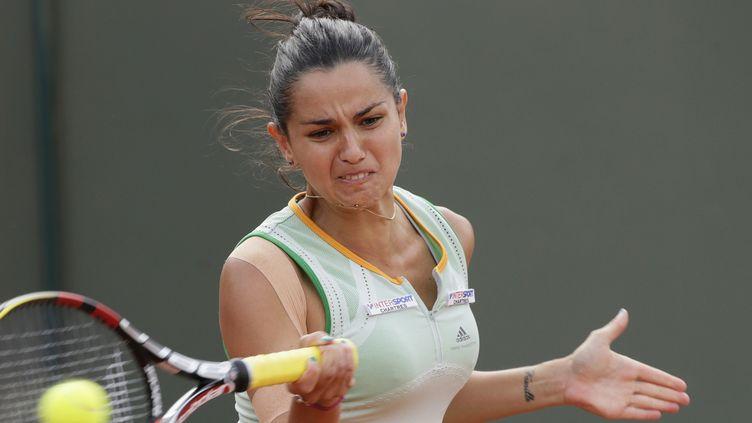Amandine Hesse a tout tenté pour ses grands débuts dans le tableau final (KENZO TRIBOUILLARD / AFP)
