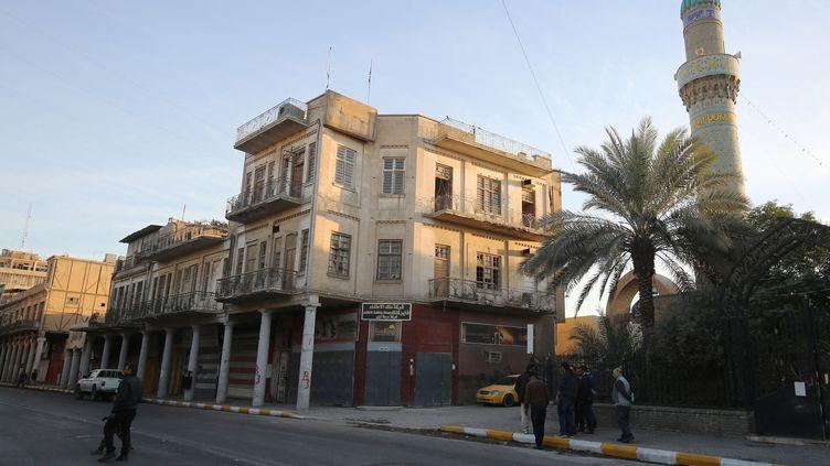 Une rue de Bagdad (29 janvier 2018). (AHMAD AL-RUBAYE / AFP)