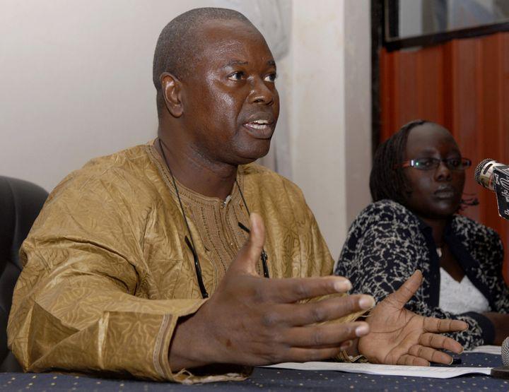 Alioune Tine est un défenseur de longue date des droits de l'homme en Afrique. C'est le fondateur du Think Tank Afrikajom Center basé à Dakar qui réflechit sur les questions de démocratie sur le continent. (ANDREW HEAVENS / X01805)