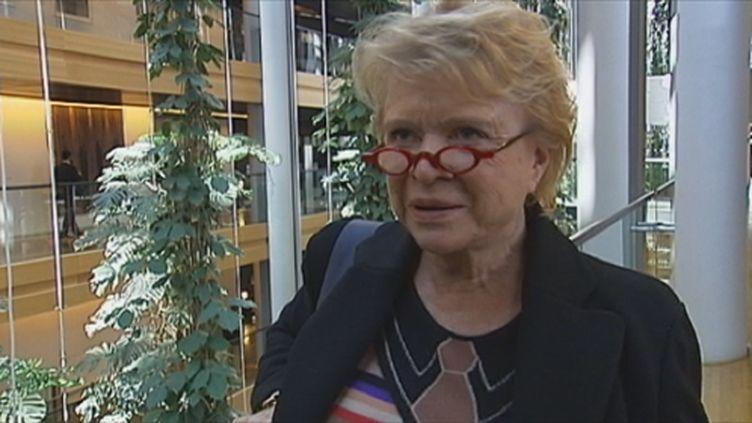 Eva Joly au Parlement européen (FranceTV)