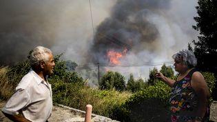 Un incendie près de Monchique au Portugal le 8 août 2018. (CARLOS COSTA / AFP)