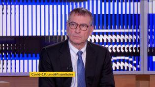 Le docteur Jean-Paul Ortiz, président de la Confédération des syndicats médicaux français (CSMF), invité de franceinfo le vendredi 13 mars. (FRANCEINFO)