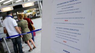Des passagers font la queue à l'aéroport de Montpellier (Hérault), le 11 juin 2013. (PASCAL GUYOT / AFP)