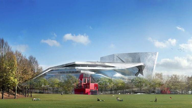 (Vue de la Philharmonie de Paris depuis le parc de la Villette © Ateliers Jean Nouvel)